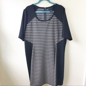 Lane Bryant | Stripped midi dress